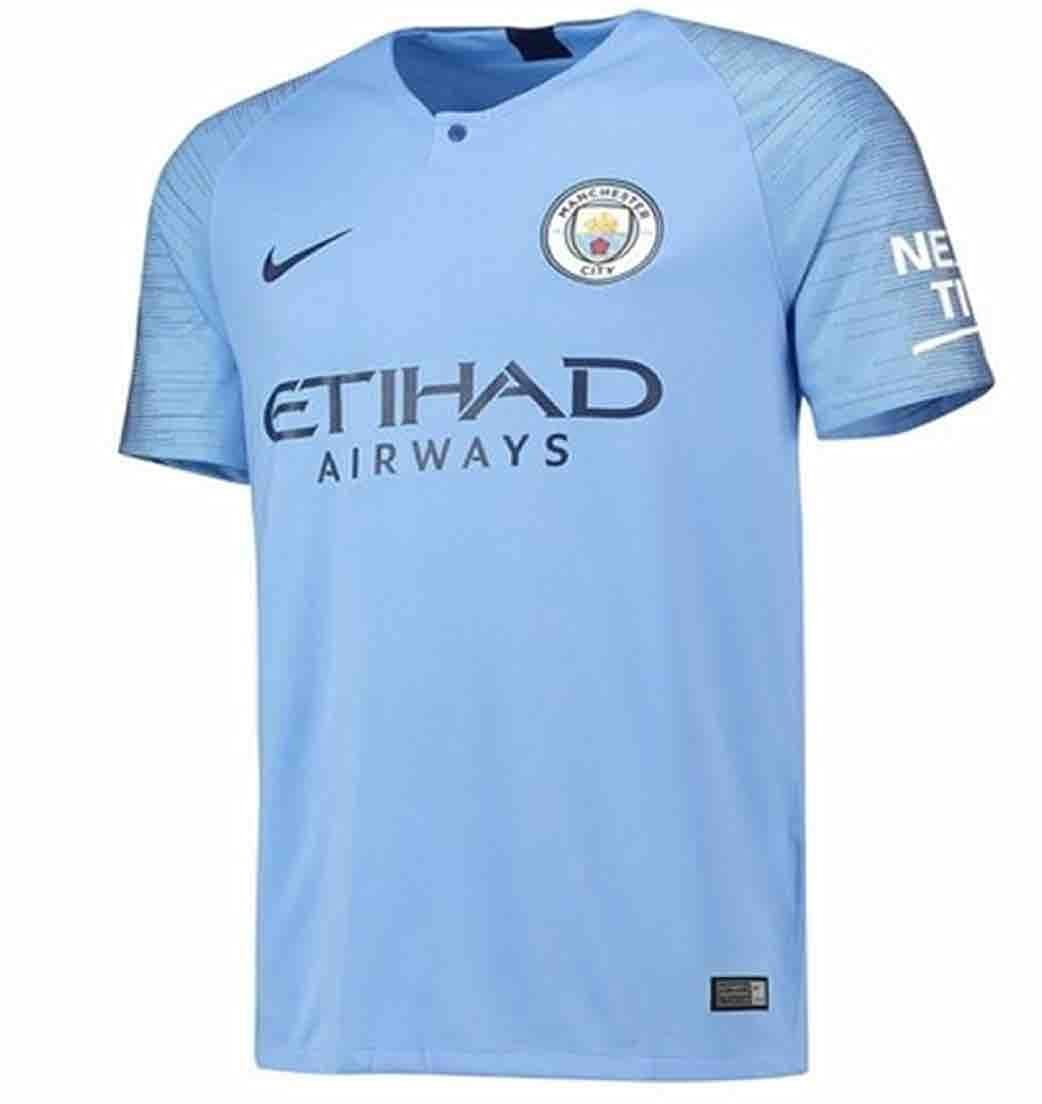 e52428741fe Amazon.com  Nike Manchester City 2018-2019 Home Shirt (Kids) Soccer Jersey   Sports   Outdoors