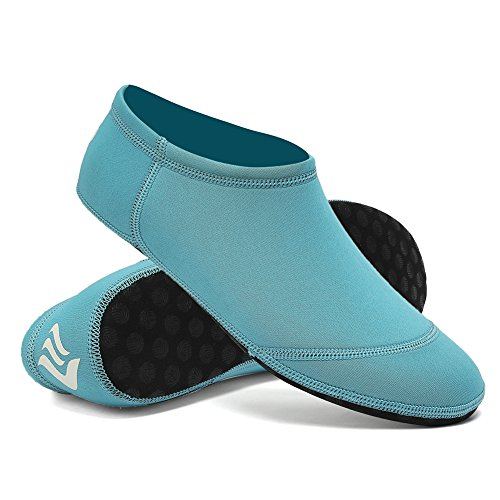 CIOR 3rd Upgraded Version Durable Sole Barefoot Water Skin Shoes Aqua Socks For Beach Pool Sand Swim Surf Yoga Water Aerobics D.aqua L6YqtPo