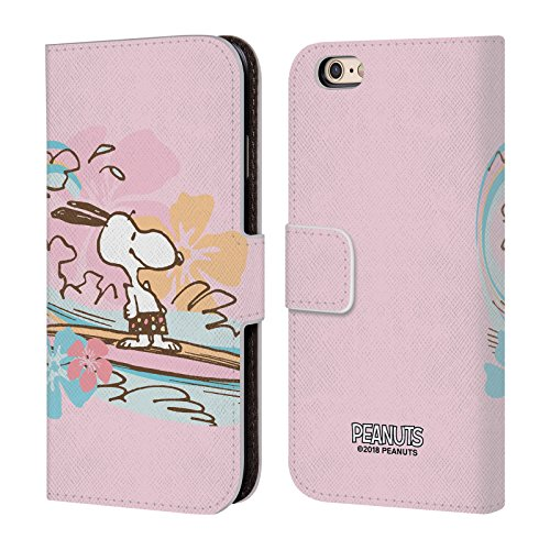 (Official Peanuts Surf Beach Bum Snoopy Leather Book Wallet Case Cover for iPhone 6 / iPhone 6s)