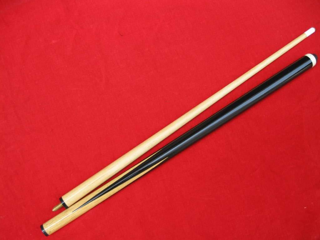 JX Pool Cues New 58 Inch Billiard Cue Sticks 13mm Glue-on Tips Hardwood Wooden Cues Set of 2