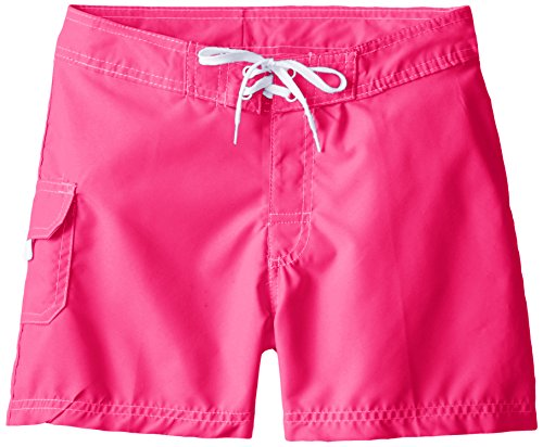 Kanu Surf Big Girls' Sassy Boardshorts, Neon Pink, Medium (8-10)