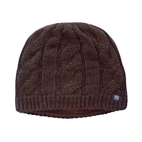 Peekaboos Classic Cable Knit Ponytail Hat, Adult/Misses (Hickory - Brown)