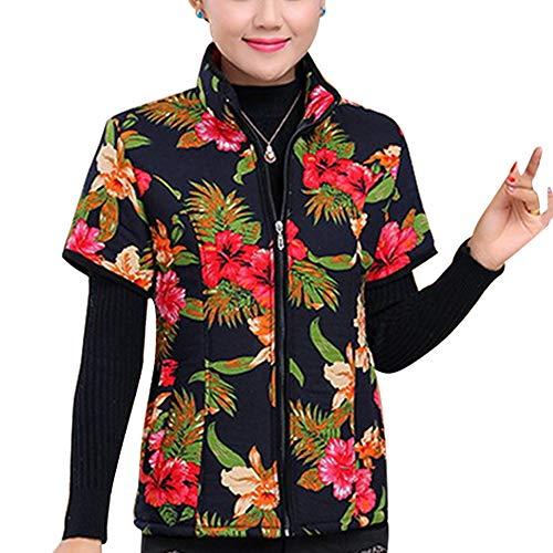 Stile In Autunno Zevonda Cappotti Mezza Zip Tasche Giacca Manica Gilet Donna 8 Cotone Con CSwqUB7xw
