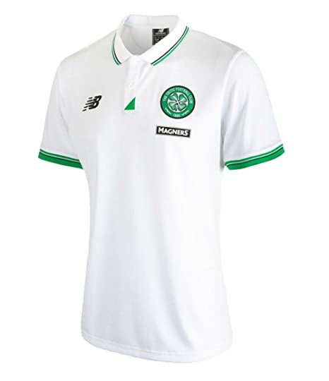New Balance Polo de Celtic FC 2015 - 2016 (Color Blanco): Amazon ...