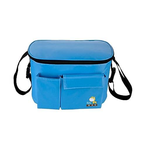 Impermeable Totalizador Bolsa de Hombro Cochecito Almacenamiento de Pañales Bolsa de Mantener Temperatura Interna (azul