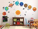 Go Go Dragon - Extra Large Kids Solar System Wall Decals for Nursery - DASHWD10004-40-A