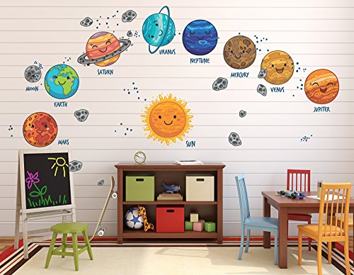 Go Go Dragon - Extra Large Kids Solar System Wall Decals for Nursery - DASHWD10004-40-A by Go Go Dragon
