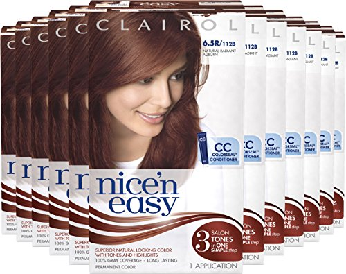 Clairol Nice 'N Easy Hair Color 112 B Natural Radiant Auburn 1 Kit (Pack of 12) by Clairol (Image #3)