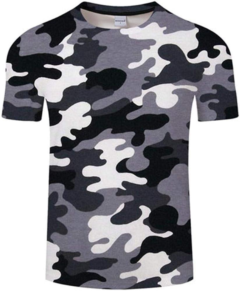 Camiseta Camiseta 3D Camiseta para Hombre Camuflaje Manga Corta Medias De Fitness Camo De Secado R/ápido Camisetas Tops Camisetas Entrenamiento Compresi/ón Top C