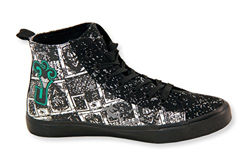 DC Comics The Joker High Top Sneakers (Medium) Black/White
