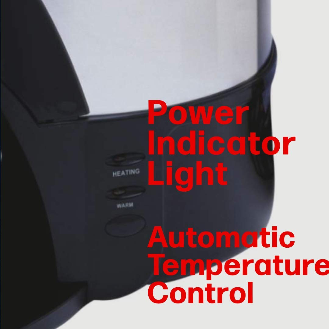 Automatic Temperature Control One Step Power Indicator Light Fast Brewing DK50V2 Dominion 50 Cup Coffee Urn and Hot Beverage Dispenser Easy Prep /& Easy Clean Up Stainless Steel