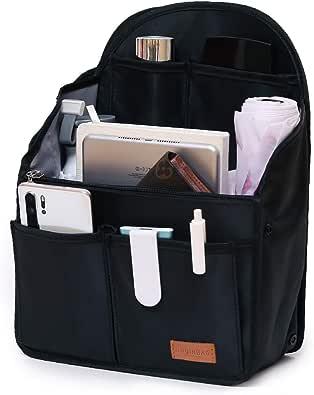 IN Backpack Organizer Insert,Nylon Organizer Insert for Backpack Rucksack Shoulder Bag Woman MCM divider foldable