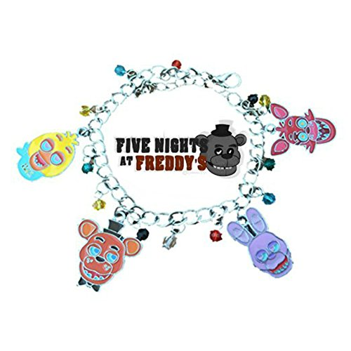 Five Nights At FREDDY'S ( 4 Themed Charms) Assorted Metal Charm (Cyborg Superman Costume)