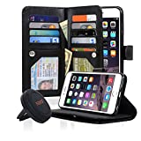 NAVOR Car Mount AND Detachable Magnetic Housing Flip Wallet Case for iPhone 6 - Best Reviews Guide