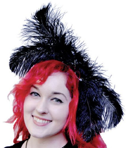 Morris Custumes Women's Ostrich Plume Headpiece One Size Red