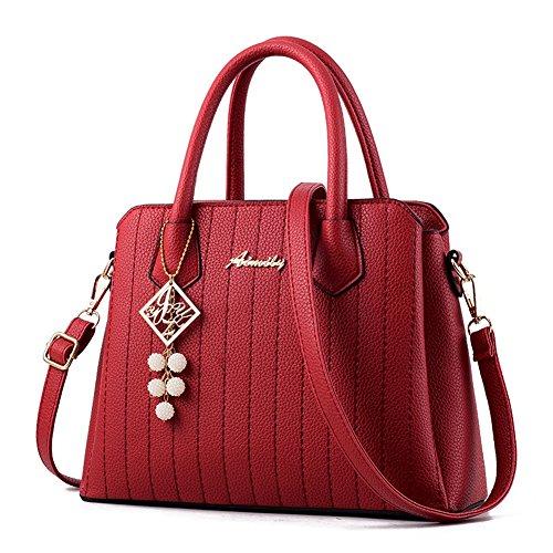 Designer Borsa rosso Donna Mano borsa pelle Bag Fashion PU a AVERIL Borse Spalla G a xpg8qwCX6