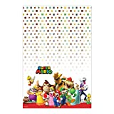 Swank Super Mario Brothers Birthday Party Plastic Table Cover Tableware Decoration (1 Piece), Multi Color, 54