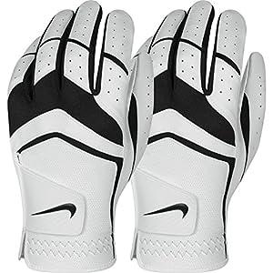 Nike GG0478 101 Dura Feel Jr Golf Gloves, Medium, Black/Met Silver/Cool Grey