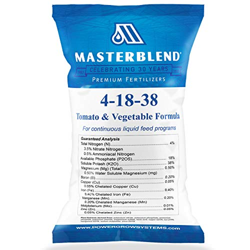 MasterBlend 4-18-38 Tomato & Vegetable Fertilizer - Bulk 1, 5 or 25 Pounds (1 Pound)