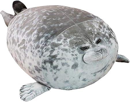1×Plush Animal Toy Chubby Blob Seal Cute Ocean Pillow Pet Stuffed Doll Kids Gift