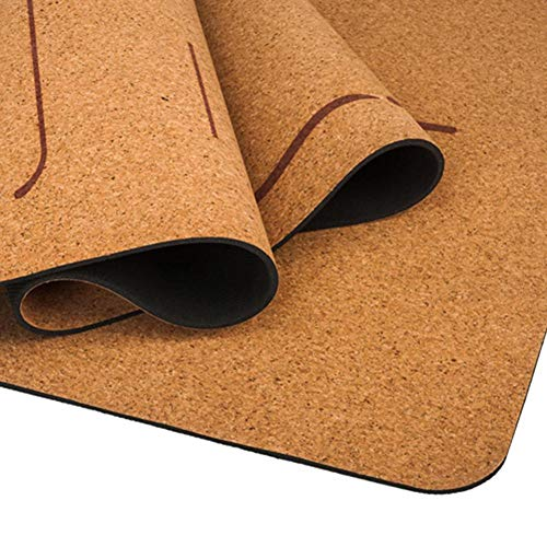 Genekun Yoga Blanket 5MM Anti-Slip Gym Pilates Sports Mats Natural Rubber Yoga Mat Cork