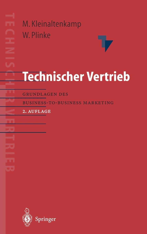 Technischer Vertrieb  Grundlagen Des Business To Business Marketing