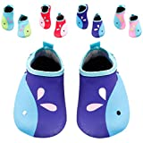 Santimon Barefoot Kids Boys Girls Swim Water Shoes Quick-Dry Aqua Socks for Beach Pool Surfing Yoga Blue US Little Kid 11-12 M