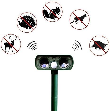 Solar Animal Cat Repelente de Mosquitos, Repelente ultrasónico de jardín Repelente de Mosquitos para Perros y Perros Impelente a Prueba de Insectos: Amazon.es: Deportes y aire libre
