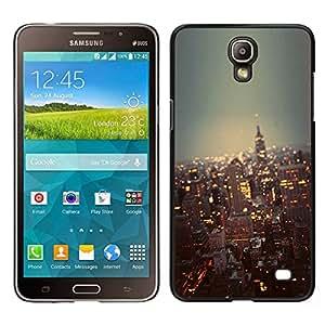 // PHONE CASE GIFT // Duro Estuche protector PC Cáscara Plástico Carcasa Funda Hard Protective Case for Samsung Galaxy Mega 2 / city New York skyline buildings NYC /