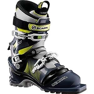 Scarpa T2 Eco Ski Boots (Blue Graphite/Yellow, 25)