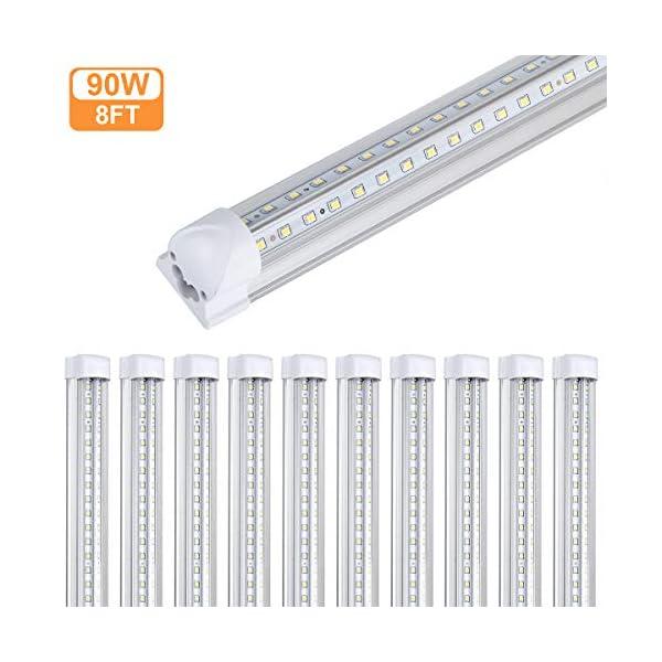 T8 Integrated Led Tube Light 8FT Dual Row 90W Led Fluorescent Bulb Tube Lamp