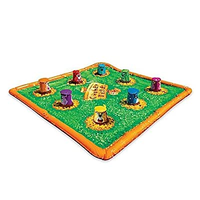 "35"" L x 35"" W x 9.75"" H Banzai Smash 'N Splash Gopher Field Water Mat: Toys & Games"