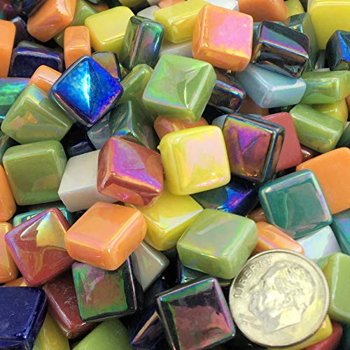 Sweetie Iridescent Glass Mosaic Tile Mix