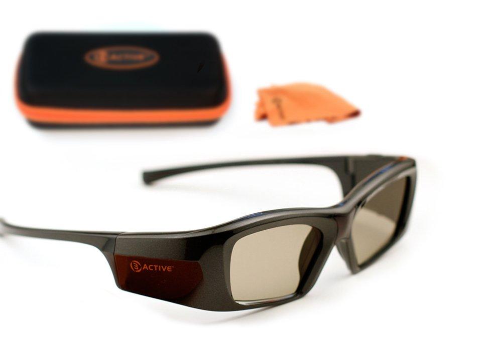 SAMSUNG-Compatible 3ACTIVE 3D Glasses. Rechargeable.