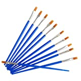 COMVIP Kids Paint Brush Set Nylon Brush Watercolor Drawing Painting Blue 10pcs