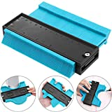 Zhehao 5 Inch Multi-functional Contour Profile Gauge Edge Shaping Measure Ruler Plastic Contour Duplicator for Tiling Laminate Woodworking Practical Tool (Blue)