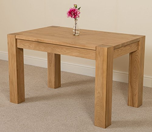 Kuba Chunky Solid Oak 125 x 80 x 77 cm Dining Room Kitchen Table