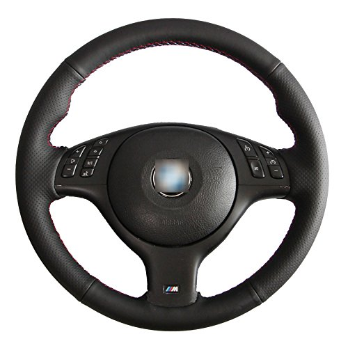 Superior Microfiber Leather Steering Wheel Cover for BMW E46 E39 330Ci 330i 525i 530i 540i M3