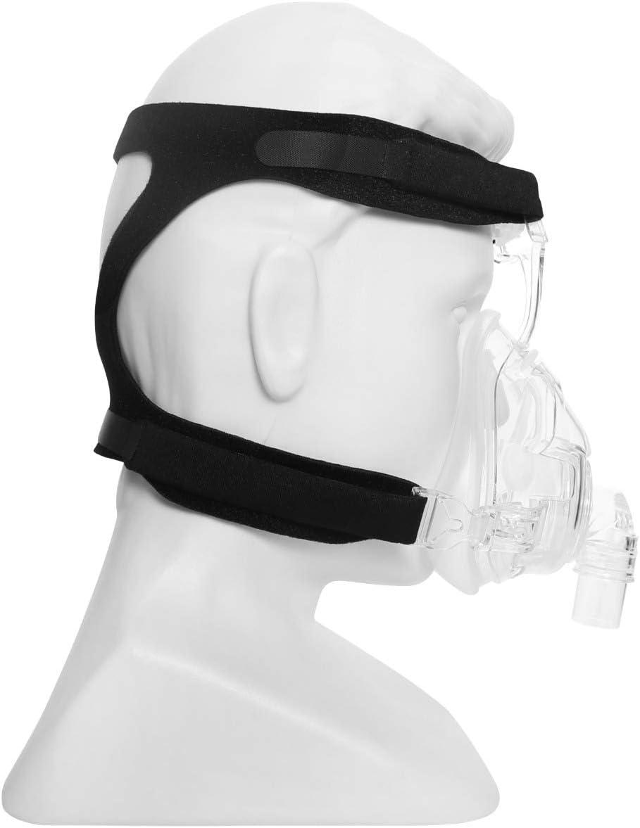 Suministros Cpap de BALIBETOV - Repuesto universal de la correa del arnés Cpap para Cpap Resmed y varias máscaras Cpap Ultraligeras, suaves y transpirables. (Máscara no incluida) (Negro)