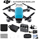 DJI Spark Quadcopter (Sky Blue) CP.PT.000733 3 Battery Bundle