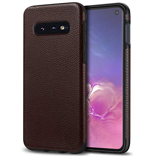 Tasikar Galaxy S10e Case with Premium PU Leather and Soft TPU Design Slim Case Compatible with Samsung Galaxy S10e (Brown) (Design Pu Leather Slim)