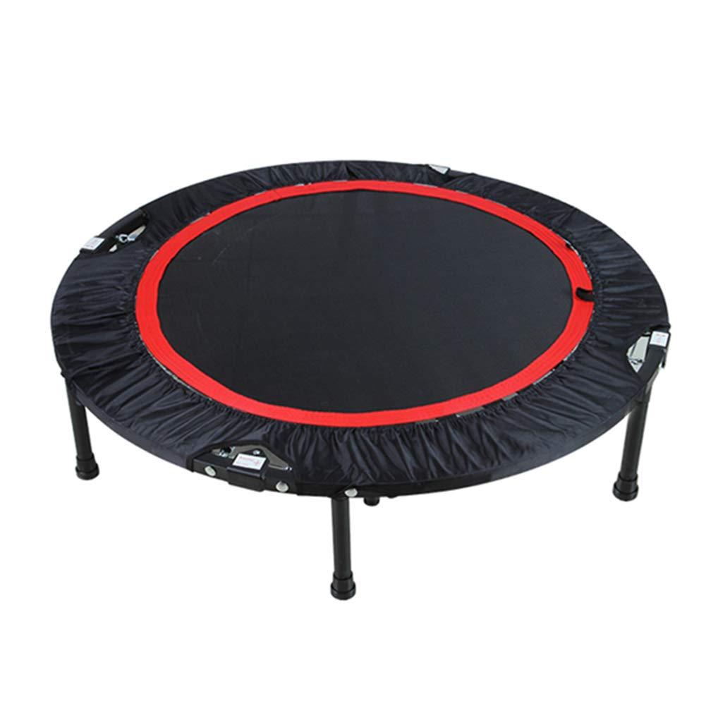 Gartentrampoline 40-Zoll-Trampolin-Folding-Fitness-Übungsgerät, Sicherheits-Fitness-Trainer für Kinder oder Erwachsene - Schwarz
