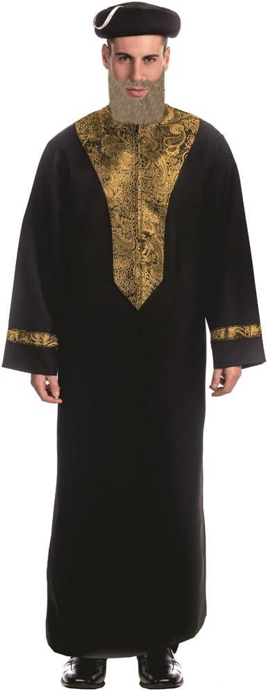 Dress Up America - Disfraz de rabino Sefardí para adulto, multicolor, talla S (844-S)