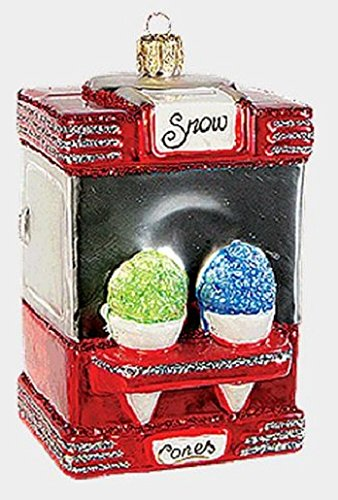 (Pinnacle Peak Trading Company Snow Cone Machine Polish Glass Christmas Ornament Snocone Decoration Shaved Ice)