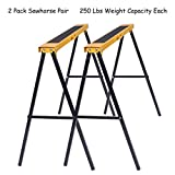 COLIBROX>>2 Pack Heavy Duty Saw Horse Steel Folding