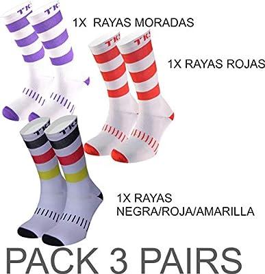 TKS Pack X3 UD Pares VACCEO DE Calcetines ESPECIFICOS DE Ciclismo ...