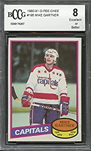 1980-81 o-pee-chee #195 MIKE GARTNER capitals rookie (50-50 CENTERED) BGS BCCG 8 Graded Card