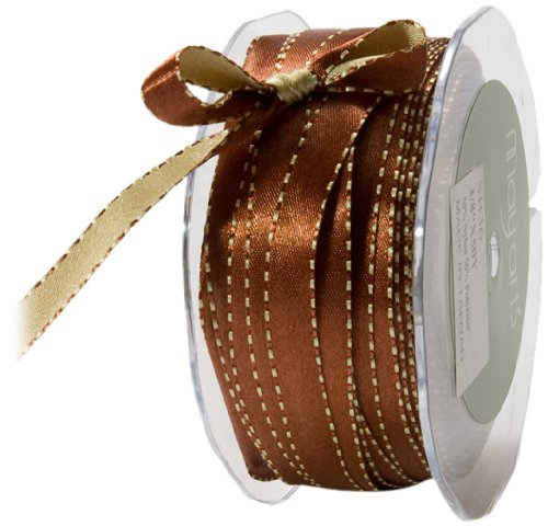 0.375 Sb (May Arts 3/8-Inch Wide Ribbon, Rust and Sage Satin)