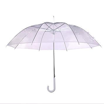 Paraguas Transparente con Mango Largo, Travel Umbrella para Mujeres, Niñas, Hombres, Buen