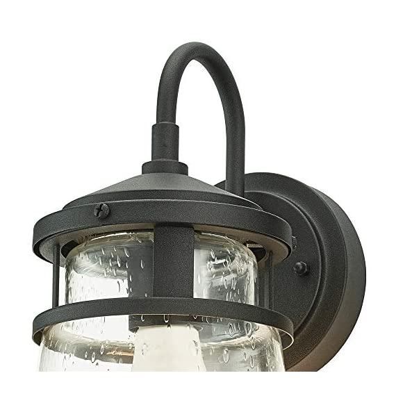 "Home Luminaire 31676 Montana Outdoor Wall Lantern, Black - Add some seaside flair to your outdoor space Use it to light up your front porch, back deck, or even your driveway Package dimensions: 9.05"" L x 9.05"" W x 19.68"" H - patio, outdoor-lights, outdoor-decor - 51QWIMwhxKL. SS570  -"